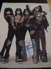 GENE SIMMONS SIGNED AUTOGRAPH 8x10 PHOTO KISS GROUP PHOTO IN PERSON RARE COA B