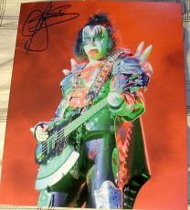 Gene Simmons Signed Autograph Rare Kiss Bloody Stage Guitar Demon 8x10 Photo Coa