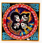 """GENE SIMMONS Signed Autographed KISS Album LP """"ROCK AND ROLL OVER"""" JSA #D48558"""