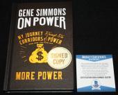 Gene Simmons signed book, My Journey Through the Corridors, KISS, Beckett BAS