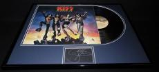 Gene Simmons Signed Framed 1976 Kiss Destroyer Record Album Display