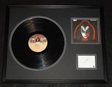 Gene Simmons Signed Framed 1978 Solo Record Album Display JSA Kiss