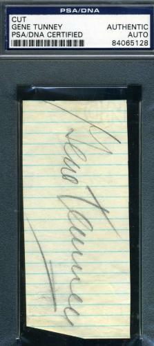 GENE TUNNEY PSA DNA COA Autograph Album Page Cut Hand Signed Authentic