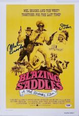 GENE WILDER and MEL BROOKS Signed Blazing Saddles 12x18 Canvas Photo w/ PSA/DNA