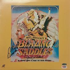 GENE WILDER and MEL BROOKS Signed Blazing Saddles Laserdisc Cover w/ PSA/DNA