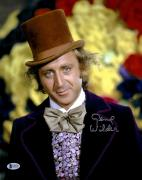 "Gene Wilder Autographed 11"" x 14"" Willy Wonka And The Chocolate Factory - Wearing Top Hat Photograph - Beckett COA"