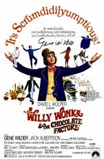 """Gene Wilder Autographed 12"""" x 18"""" Willy Wonka and The Chocolate Factory Movie Poster - PSA/DNA COA"""