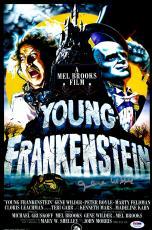 "Gene Wilder Autographed 12"" x 18"" Young Frankenstein Movie Poster - PSA/DNA COA"