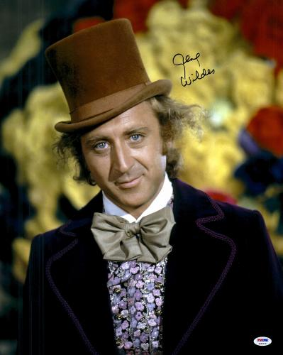 "Gene Wilder Autographed 16"" x 20"" Willy Wonka Photograph - PSA/DNA COA"