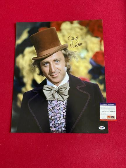 "Gene Wilder, ""Autographed"" (PSA/DNA) Willy Wonka 16 x 20 Photo (Scarce /Vintage)"