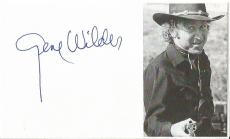 Gene Wilder Blazing Saddles Movie Legend Signed Autographed 3x5 Index Card Coa