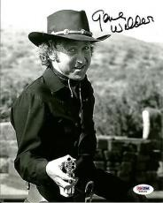 Gene WIlder BLAZING SADDLES Signed 8x10 Photo PSA/DNA COA #1