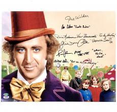 GENE WILDER Cast Signed Willy Wonka 16x20 Photo PSA/DNA COA + Inscription Quotes