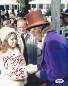 Gene Wilder & Julie Dawn Cole Signed Willy Wonka 8x10 Photo PSA/DNA # 4A77170