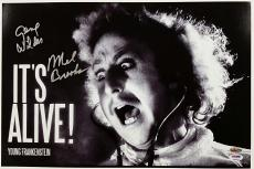 GENE WILDER + MEL BROOKS Signed 12x18 Photo YOUNG FRANKENSTEIN w/ PSA/DNA COA
