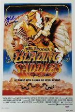 GENE WILDER + MEL BROOKS Signed Blazing Saddles 12x18 Photo PSA/DNA #4A96059