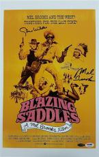 GENE WILDER + MEL BROOKS Signed Blazing Saddles 12x18 Photo PSA/DNA #4A96068