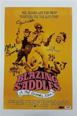 GENE WILDER + MEL BROOKS Signed Blazing Saddles 12x18 Photo PSA/DNA #4A96072