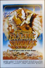 Gene Wilder & Mel Brooks Signed Blazing Saddles 12x18 Poster PSA/DNA #4A96765