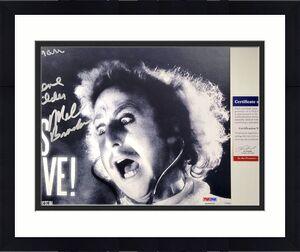 Gene Wilder Mel Brooks Teri Garr Signed Young Frankenstein 8x10 Photo PSA A