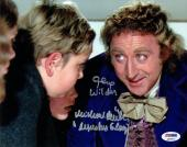 Gene Wilder & Michael Bollner Signed Willy Wonka Authentic 8x10 Photo PSA/DNA
