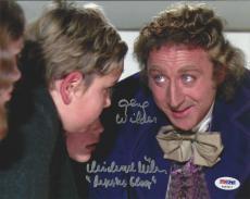 Gene Wilder & Michael Bollner Willy Wonka signed 8X10 PSA/DNA # 4A93917