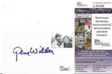 Gene Wilder Movie Legend Signed Autographed 3x5 Index Card Jsa Coa Authentic