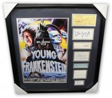 Gene Wilder Peter Boyle Mel Brooks Signed signed Collage Young Frankenstein JSA