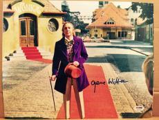 Gene Wilder Signed 11x14 Photo Auto Willy Wonka Psa/dna Itp Coa A13