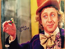 Gene Wilder Signed 11x14 Photo Auto Willy Wonka Psa/dna Itp Coa A17