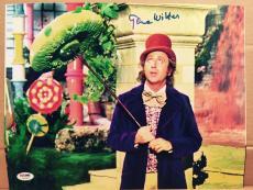 Gene Wilder Signed 11x14 Photo Auto Willy Wonka Psa/dna Itp Metallic Paper A3