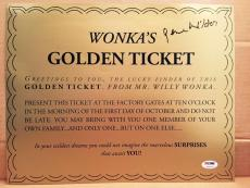 Gene Wilder Signed 8x10 Golden Ticket Willy Wonka Psa/dna Itp