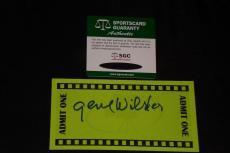 Gene Wilder Signed Autographed Index Card Size Ticket Willy Wonka Sgc Authentic