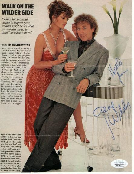 Gene Wilder Signed Autographed Magazine Photo Arthur Willy Wonka JSA HH37441