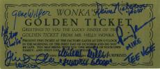 Gene Wilder Signed Autographed Willy Wonka Golden Ticket With All 5 Kids!!!