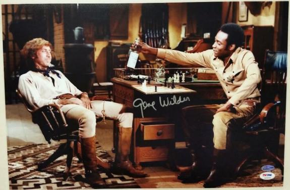 GENE WILDER Signed Blazing Saddles 12x18 Photo #1 Autograph w/ PSA/DNA