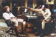 Gene Wilder Signed Blazzing Saddles Autographed 12x18 Photo PSA/DNA