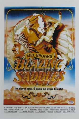 Gene Wilder Signed Blazzing Saddles Autographed 12x18 Poster (PSA/DNA) #4A96757