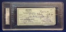 Gene Wilder signed Cancelled Check Slabbed PSA/DNA # 83770489