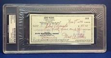 Gene Wilder signed Cancelled Check Slabbed PSA/DNA # 83770490