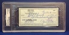 Gene Wilder signed Cancelled Check Slabbed PSA/DNA # 83770491