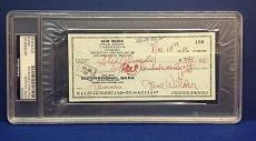Gene Wilder signed Cancelled Check Slabbed PSA/DNA # 83770492