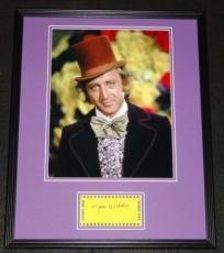 Gene Wilder Signed Framed 16x20 Photo Poster Display JSA Willy Wonka