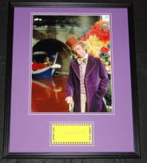 Gene Wilder Signed Framed 16x20 Photo Poster Display JSA Willy Wonka C