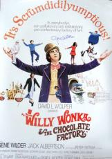 Gene Wilder Signed RARE 27x40 Willy Wonka POSTER JSA