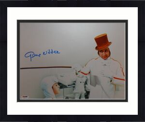 Gene Wilder Signed Willy Wonka 11x14 Charlie And The Chocolate Factory Psa/dna