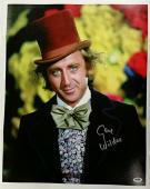 GENE WILDER Signed Willy Wonka 16x20 Canvas Photo AUTO Silver w/ PSA/DNA COA