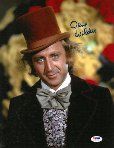 Gene Wilder Signed Willy Wonka Authentic Autographed 10x13 Photo PSA/DNA #U26553