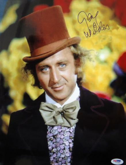 Gene Wilder Signed Willy Wonka Factory 11x14 Photo PSA