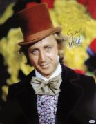 Gene Wilder Signed Willy Wonka Factory 16x20 Photo PSA